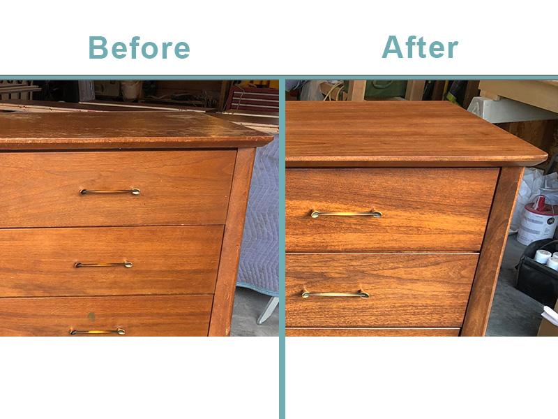 mid century dresser restoration
