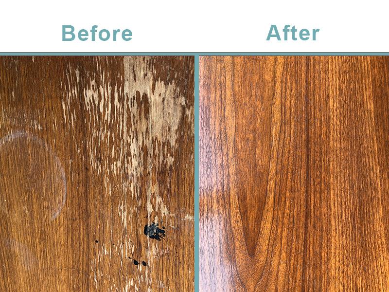 mid century-dresser restore woodgrain