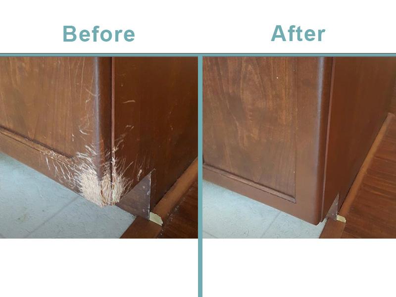 pet damaged cabinet