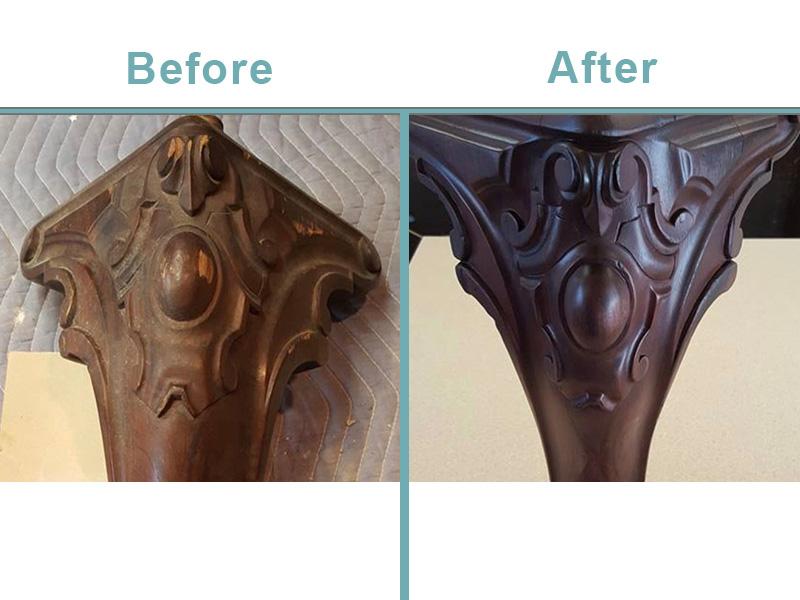 piano leg restoration
