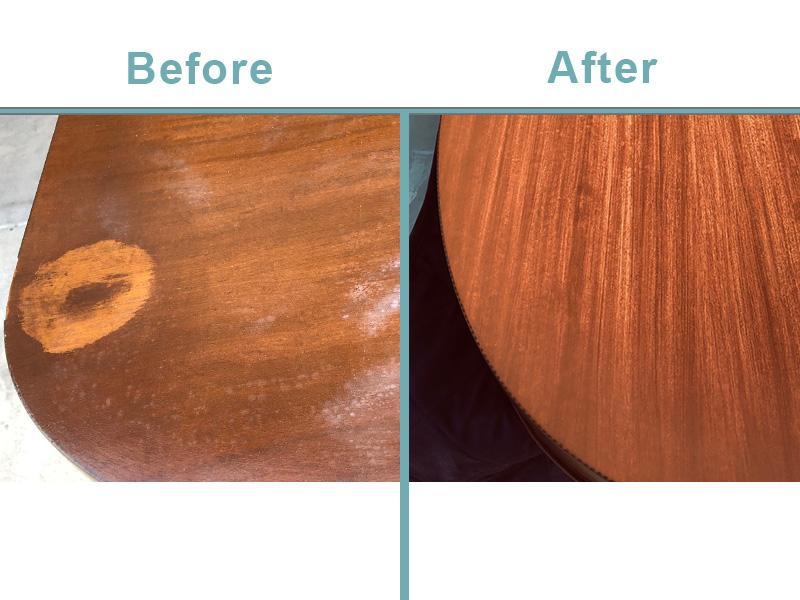 antique dining room table repair