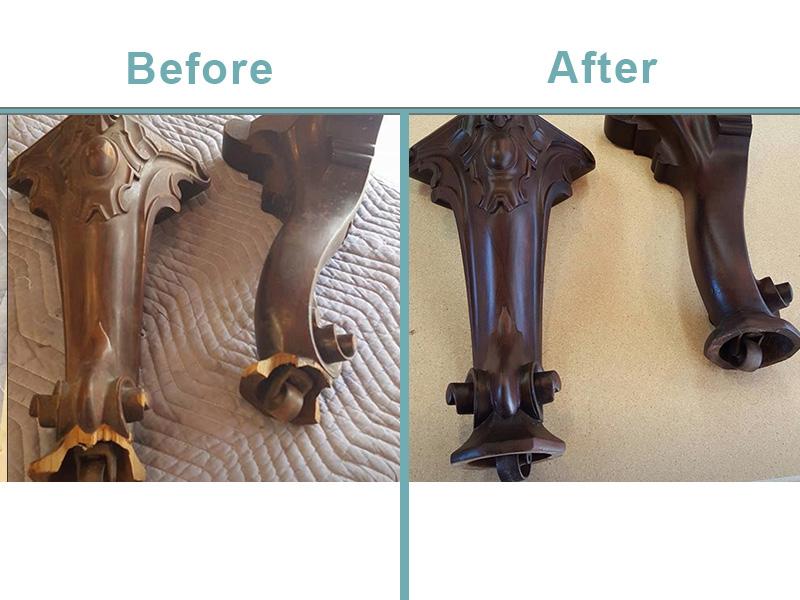 grand piano leg restoration