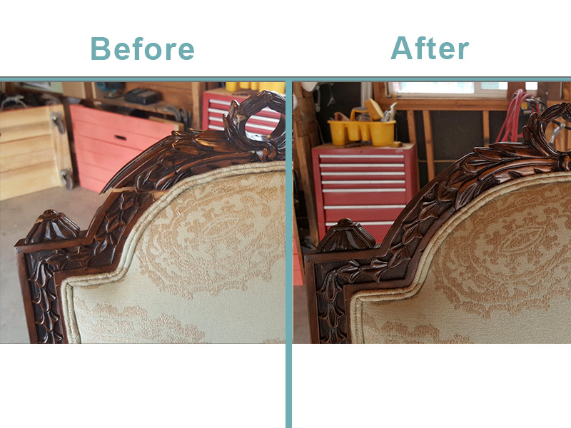 wooden dining chair back repair
