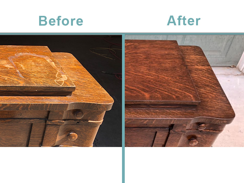 Antique sewing table restoration