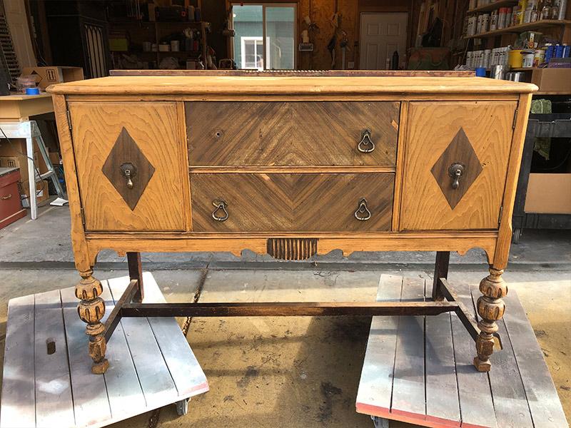 Antique sideboard restoration-before-full