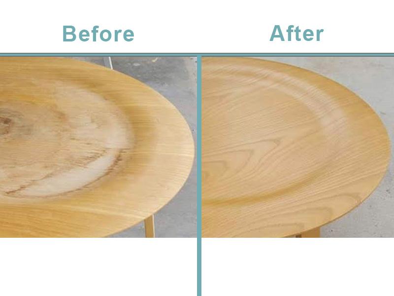 Herman Miller coffee table restoration