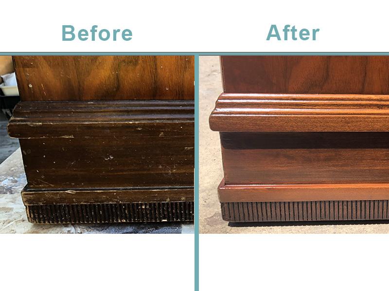 Lane cedar chest restoration DETAIL