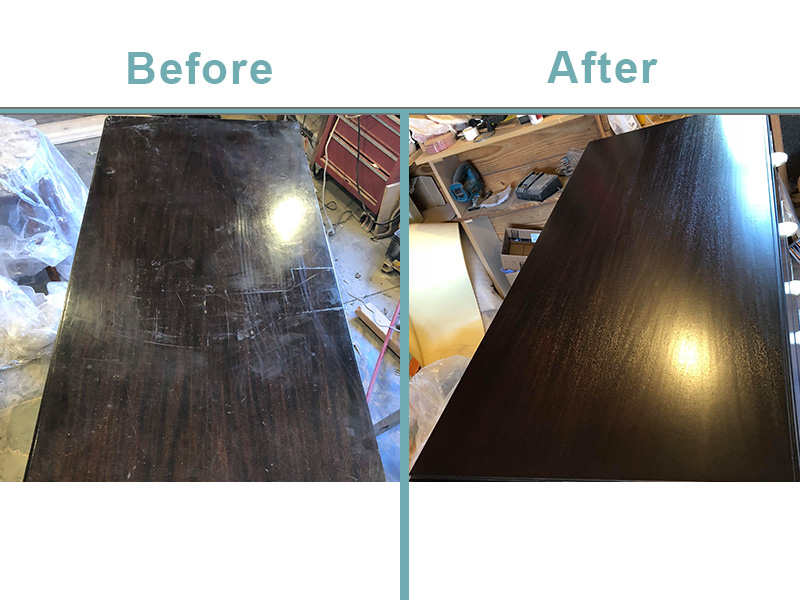 Widdicomb dresser restoration-wood