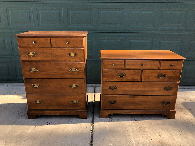 solid wood dressers-before