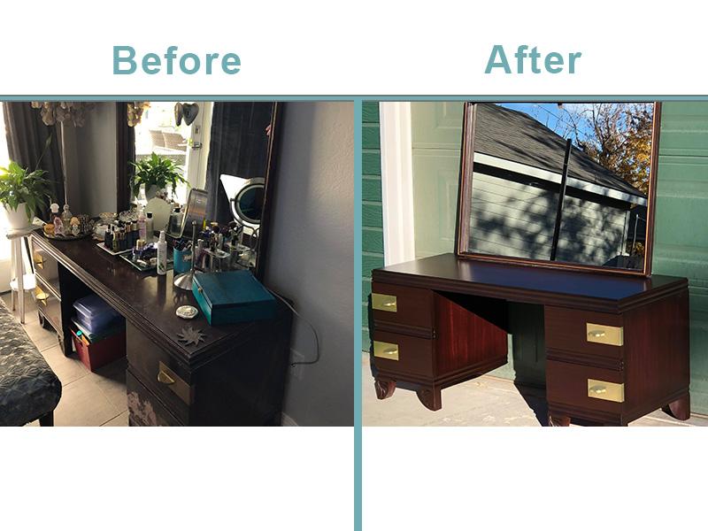 vanity mirror restoration